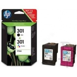 PACK HP 301 PRETO+301 CORES ORIGINAL